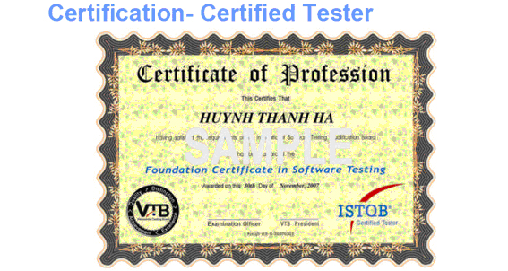 Certification Tester